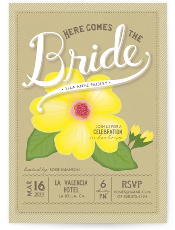 Blossoming Bride Bridal Shower Invitations
