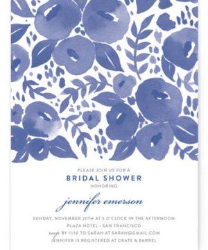 Blue Blossoms Bridal Shower Invitations