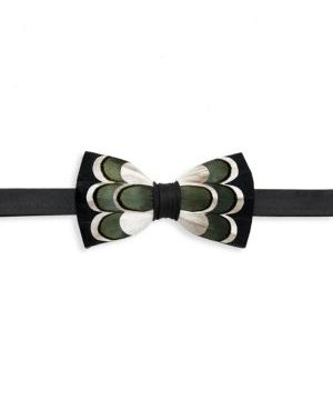 Bluff Grosgrain, Goose & Pheasant Feather Bow Tie