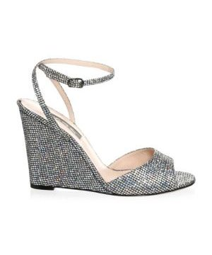 Boca Glitter Wedge Sandals
