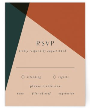 Bold Geometric RSVP Cards