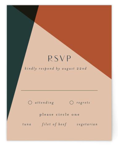 Bold Geometric RSVP Cards