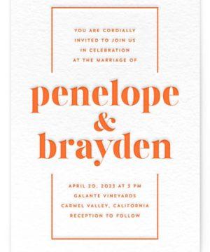 Bolder Letterpress Wedding Invitations