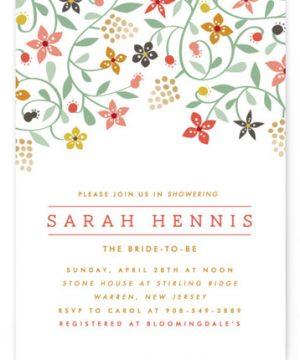 Botanical Affair Bridal Shower Invitations