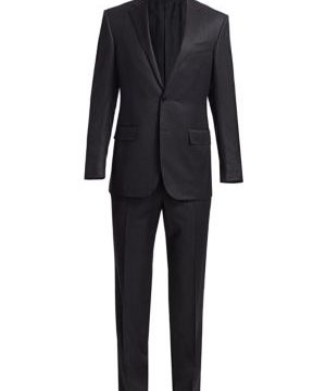 Box Plaid Wool Single-Breasted Suit
