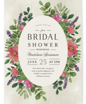 Bridal Garden Bridal Shower Invitations