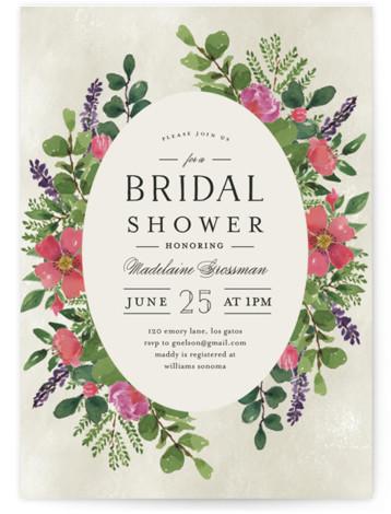 Bridal Garden Bridal Shower Invitations