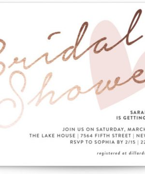 Bridal Heart Foil-Pressed Bridal Shower Invitations