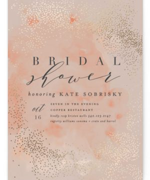 Bridal Shimmer Foil-Pressed Bridal Shower Invitations