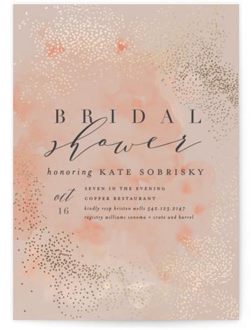 Bridal Shimmer Foil-Pressed Bridal Shower Invitations