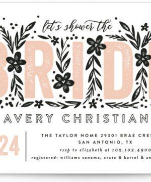 Bride Florals Bridal Shower Invitations