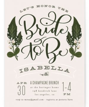 Bride To Be Bridal Shower Invitations