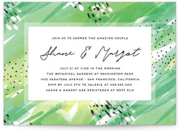 Bright Celebration Bridal Shower Invitations