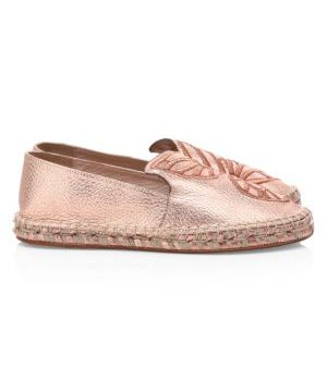 Butterfly Metallic Leather Espadrilles