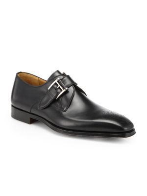 COLLECTION BY MAGNANNI Leather Monk-Strap Dress Shoes