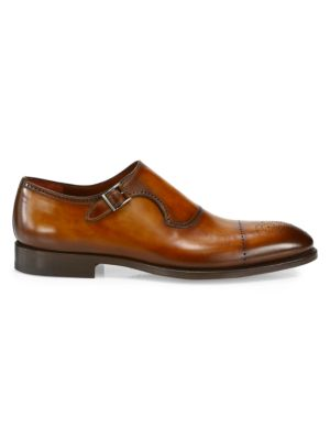 COLLECTION Single Monk-Strap Leather Dress Shoes