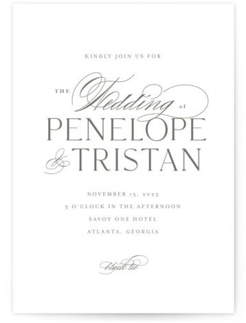 Calisson Wedding Invitations