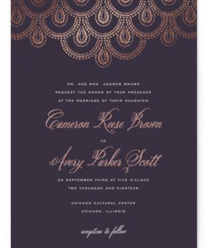 Captivating Foil-Pressed Wedding Invitations