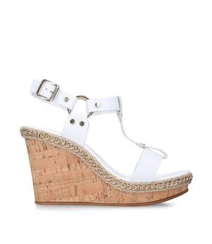Carvela Karolina - White High Heel Wedge Sandals