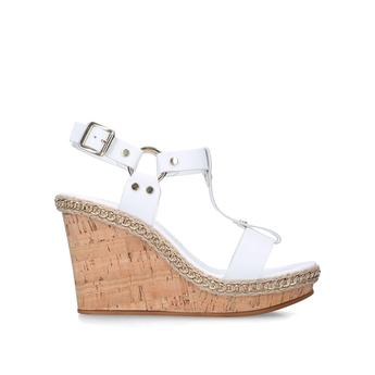 Carvela Karolina - White High Heel Wedge Sandals