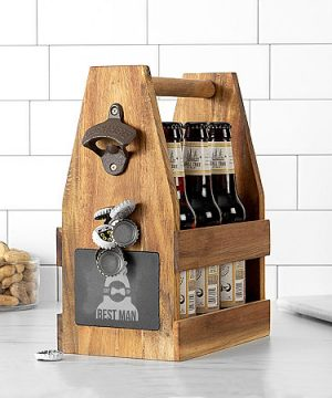 Cathy's Concepts Best Man Beer Carrier, One Size , Brown