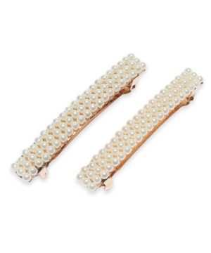 Charter Club 2-Pc. Gold-Tone Imitation Pearl Hair Barrette Set, Created for Macy's
