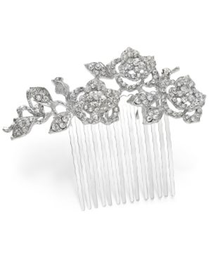 Charter Club Silver-Tone Crystal Flower Hair Comb, Created for Macy's