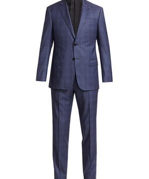 Check Virgin Wool Suit
