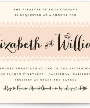 Chic Romantique Bridal Shower Invitations