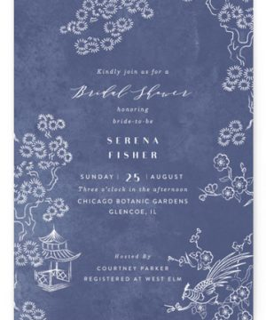 Chinoiserie Chic Bridal Shower Invitations