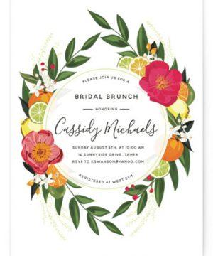 Citrus Brunch Bridal Shower Invitations