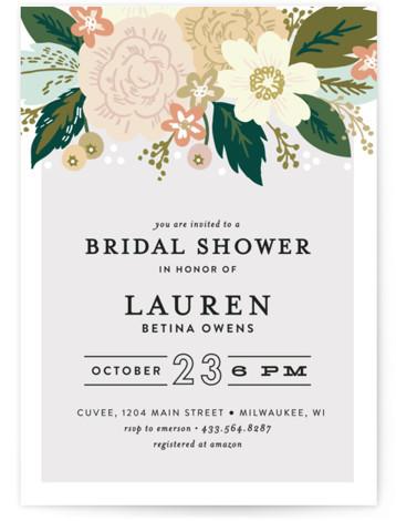 Classic Floral Bridal Shower Invitations
