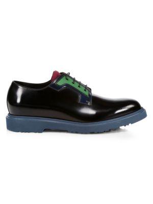 Colorblock Patent Leather Dress Shoes