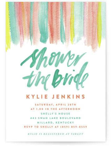 Colourful Banner Bridal Shower Invitations