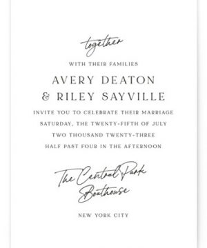 Composure Wedding Invitations