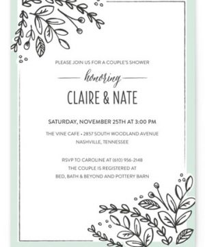 Corner Garden Bridal Shower Invitations
