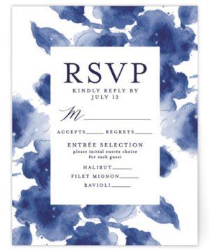 Cornflower Wedding RSVP Cards