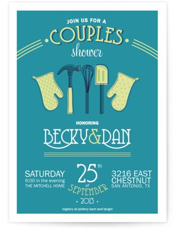 Couples Kitchen Bridal Shower Invitations