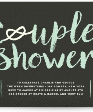 Couple's Knot Bridal Shower Invitations