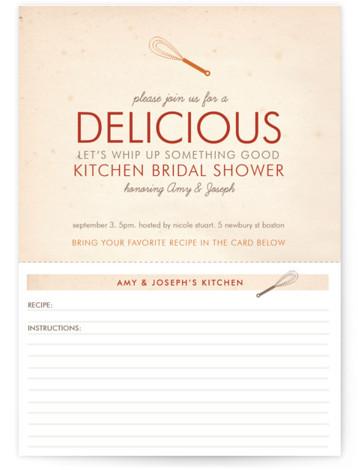 Couple's Recipe Bridal Shower Invitations