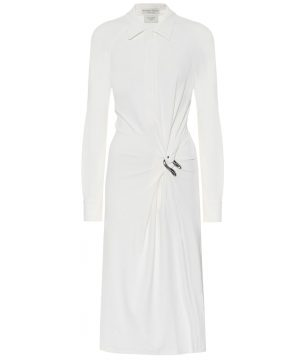 Crêpe jersey shirt dress