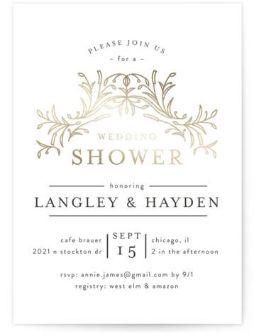 DUO Foil-Pressed Bridal Shower Invitations