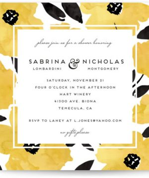 Dark Romance Bridal Shower Invitations