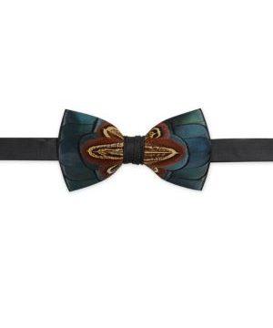 Dawho Pheasant Feather Bow Tie