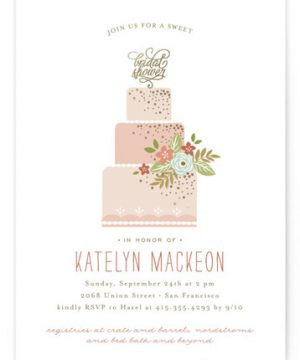 Decadence Foil-Pressed Bridal Shower Invitations