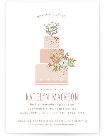 Decadence Foil-Pressed Bridal Shower Invitations