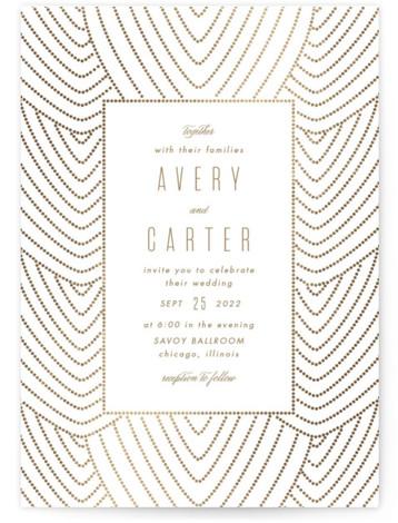 Deco Foil-Pressed Wedding Invitations