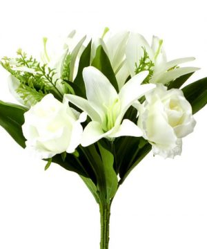 "Decostar Artificial Flower 15"" x 10"" - 12 Pieces - White"