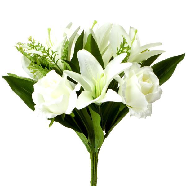 "Decostar Artificial Flower 15"" x 10"" - 12 Pieces - White"
