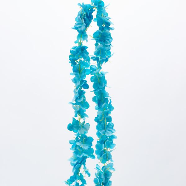 "Decostar Artificial Flower Garland 80"" - 24 Pieces - Aqua"
